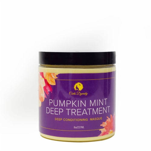 Curls Dynasty Pumpkin Mint Deep Treatment Conditioning Masque Perspective: front