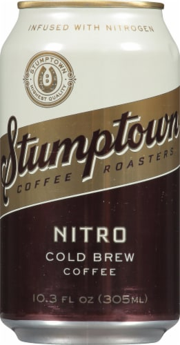 Stumptown Coffee Roasters Nitro Cold Brew Coffee Can Perspective: front
