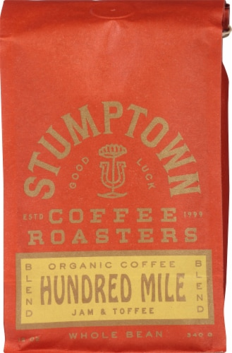 Stumptown Coffee Organic Hundred Mile Whole Bean Coffee Perspective: front