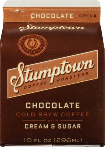 Stumptown Chocolate Cold Brew Coffee with Cream & Sugar Perspective: front