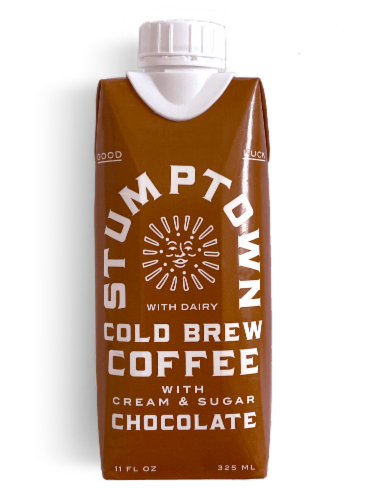 Stumptown Coffee Cold Brew Chocolate Coffee with Cream & Sugar Perspective: front