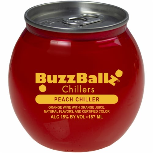 BuzzBallz Chillers Peach Chiller Cocktail Perspective: front