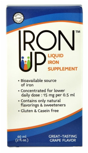 A.C. Grace  Iron Up Liquid Iron Supplement   Grape Perspective: front
