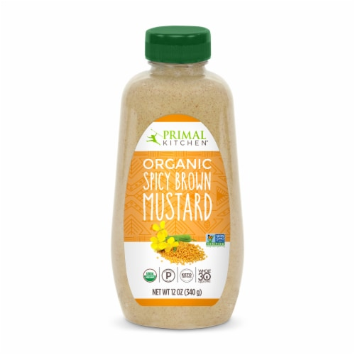Primal Kitchen Organic Spicy Brown Mustard Perspective: front