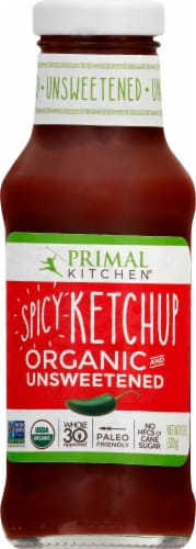 Primal Kitchen Unsweetened Organic Spicy Ketchup Perspective: front