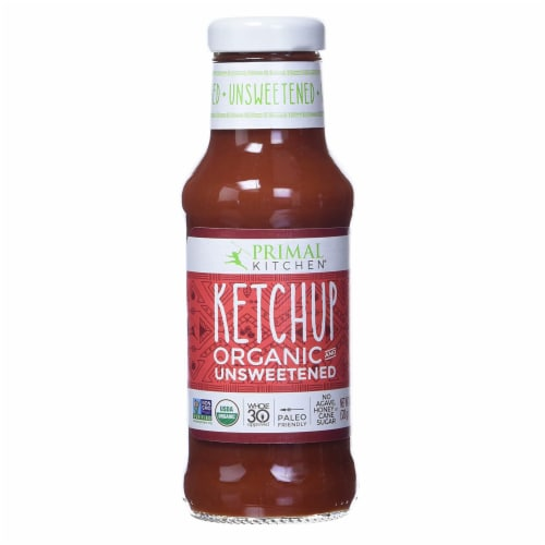 Primal Kitchen Organic Unsweetened Ketchup, Whole 30 Approved, Paleo 11.3 OZ Bottle - 2 Pack Perspective: front