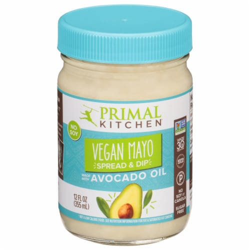 Primal Kitchen Vegan Mayo Apread & Dip Made with Avocado Oil Perspective: front