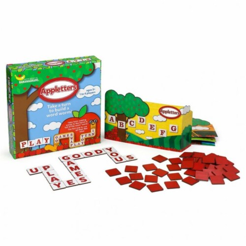 Bananagrams BNAAPP002 Apple Letters Building Game Perspective: front