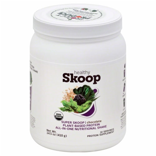 Healthy Skoop Plant-Based Chocolate Protein Nutritional Shake Perspective: front