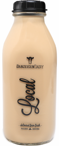 Danzeisen Dairy Local Reduced Fat 2% Cold Brew Coffee Milk Perspective: front