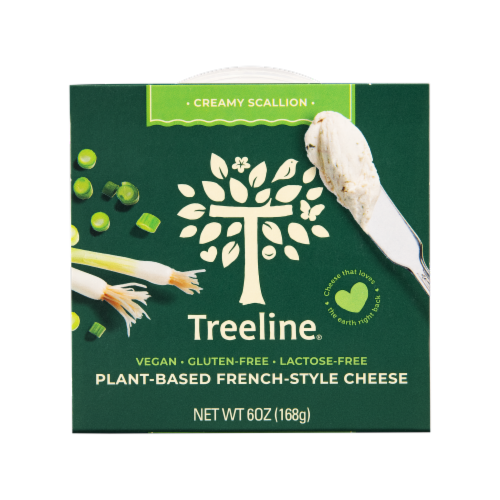 Treeline Treenut Cheese Scallion Flavor Soft French-Style Nut Cheese Perspective: front