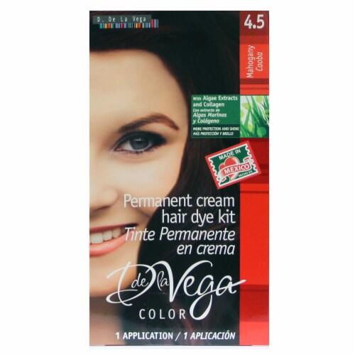 D De La Vega 4.5 Mahogany Hair Color Perspective: front