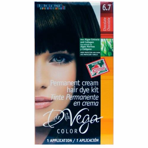 D De La Vega Chocolate 6.7 Permanent Cream Hair Dye Kit Perspective: front