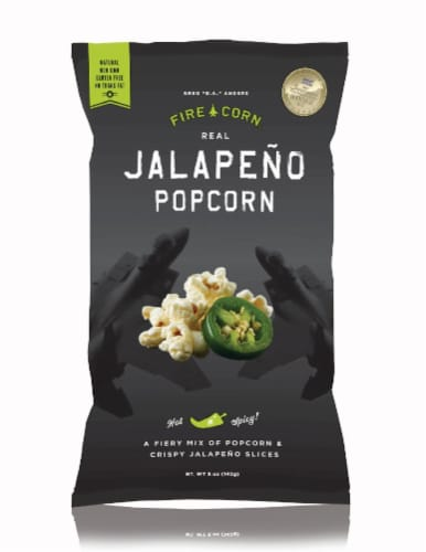 Fire Corn Real Jalapeno Popcorn Perspective: front