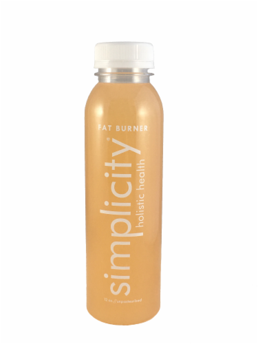 Simplicity Holistic Health Fat Burner Cold Pressed Juice Perspective: front