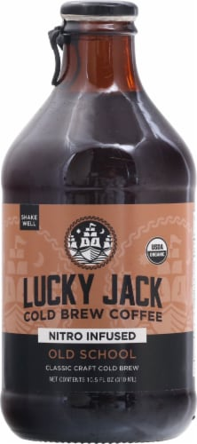 Lucky Jack Old School Nitro Cold Brew Coffee Perspective: front