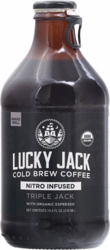 Lucky Jack Triple Black Nitro Cold Brew Coffee Perspective: front