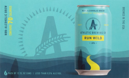 Athletic Brewing Co. Run Wild Non Alcoholic IPA Perspective: front
