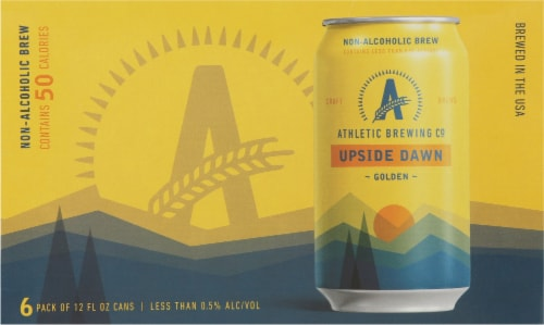 Athletic Brewing Co. Upside Dawn Non-Alcoholic Golden Ale Perspective: front