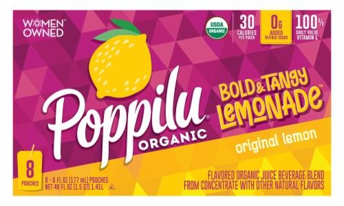 Poppilu Original Lemon Bold & Tangy Lemonade Pouch Perspective: front