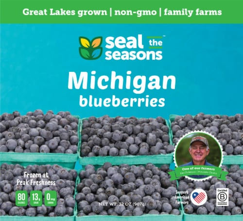 Seal The Seasons Frozen Michigan Blueberries Perspective: front