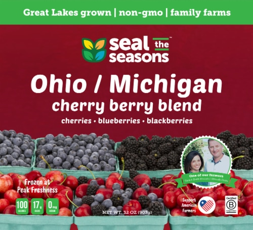 Seal the Seasons Michigan/Ohio Cherry Berry Blend Frozen Fruit Perspective: front