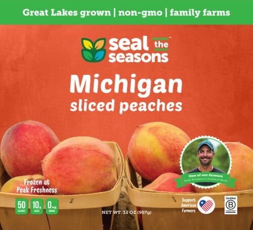 Seal The Seasons Frozen Michigan Peaches Perspective: front