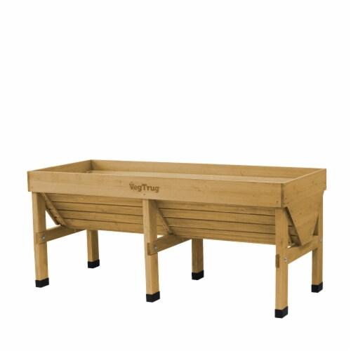 VegTrug Medium Raised Bed Planter - Natural FSC 100% Perspective: front