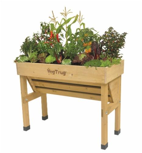VegTrug Wallhugger Small Raised Bed Planter - Natural FSC 100% Perspective: front