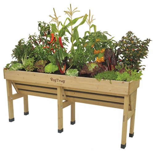 VegTrug Wallhugger Medium - Natural FSC 100% Perspective: front