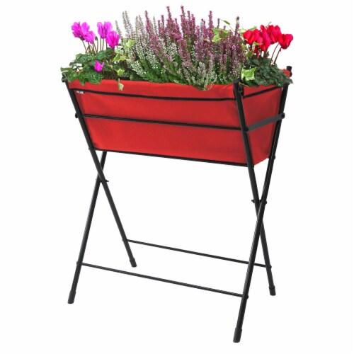 VegTrug Poppy Go! Raised Planter - Red Perspective: front