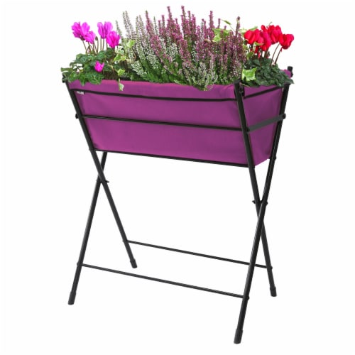 VegTrug Poppy Go! Raised Planter - Purple Perspective: front