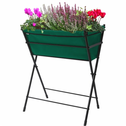 VegTrug Poppy Go! Raised Planter - Dark Green Perspective: front