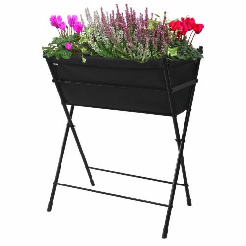 VegTrug Poppy Go! Raised Planter - Black Perspective: front