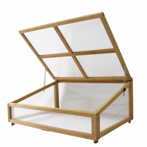 VegTrug Cold Frame Greenhouse 1m Natural FSC 100% Perspective: front