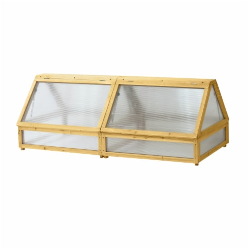 VegTrug Cold Frame Greenhouse 1.8m Natural FSC100% Perspective: front