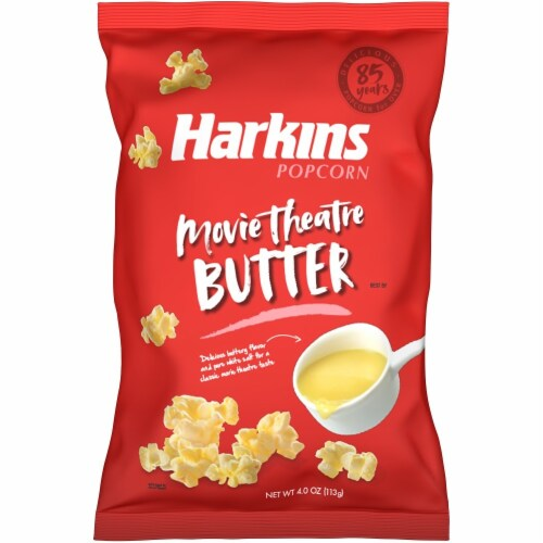Harkins Movie Theatre Butter Popcorn Perspective: front