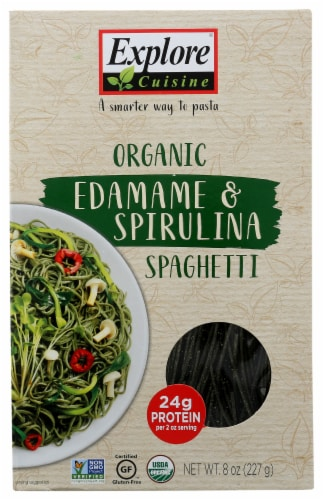 Explore Cuisine Organic Edamame & Spirulina Spaghetti Perspective: front