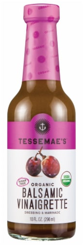 Tessemae's All Natural Balsamic Dressing & Marinade Perspective: front