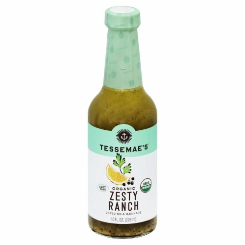 Tessemae's Organic Zesty Ranch Dressing Perspective: front