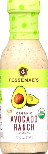 Tessemae's Dairy Free Avocado Ranch Dressing Perspective: front