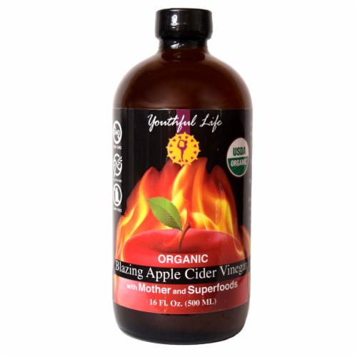 Youthful Life Organic Blazing Apple Cider Vinegar Perspective: front