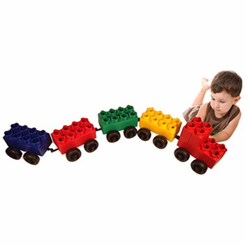 Serec Entertainment 8-55486-00212-9 Jumbo Blocks Conductor Train Set, 46 Pieces Perspective: front