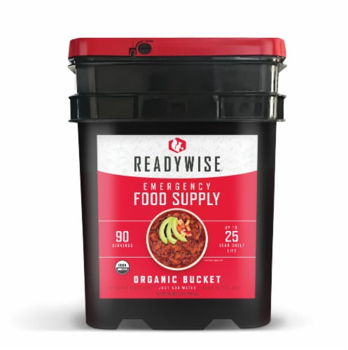 ReadyWise Organic Emergency Food Supply Perspective: front