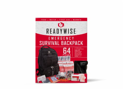 ReadyWise 5 Day Survival Backpack - Black Perspective: front