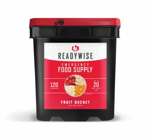 ReadyWise Freeze Dried Fruit Emergency Food Supply Perspective: front