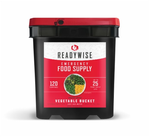 ReadyWise Freeze Dried Vegetable Emergency Food Supply Perspective: front