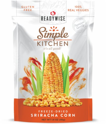 Simple Kitchen Freeze-Dried Sriracha Corn Perspective: front