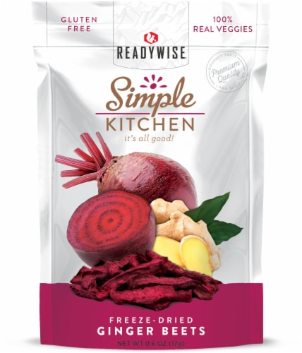 ReadyWise Simple Kitchen Freeze-Dried Ginger Beets Perspective: front
