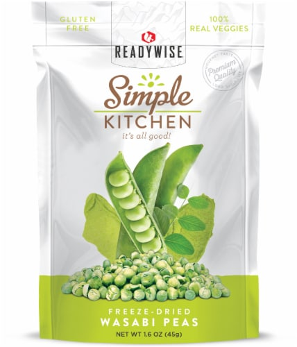 Simple Kitchen Freeze-Dried Wasabi Peas Perspective: front